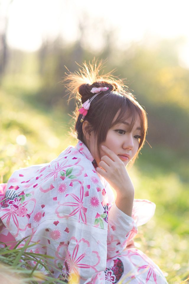 Good Japanese girl Android wallpaper