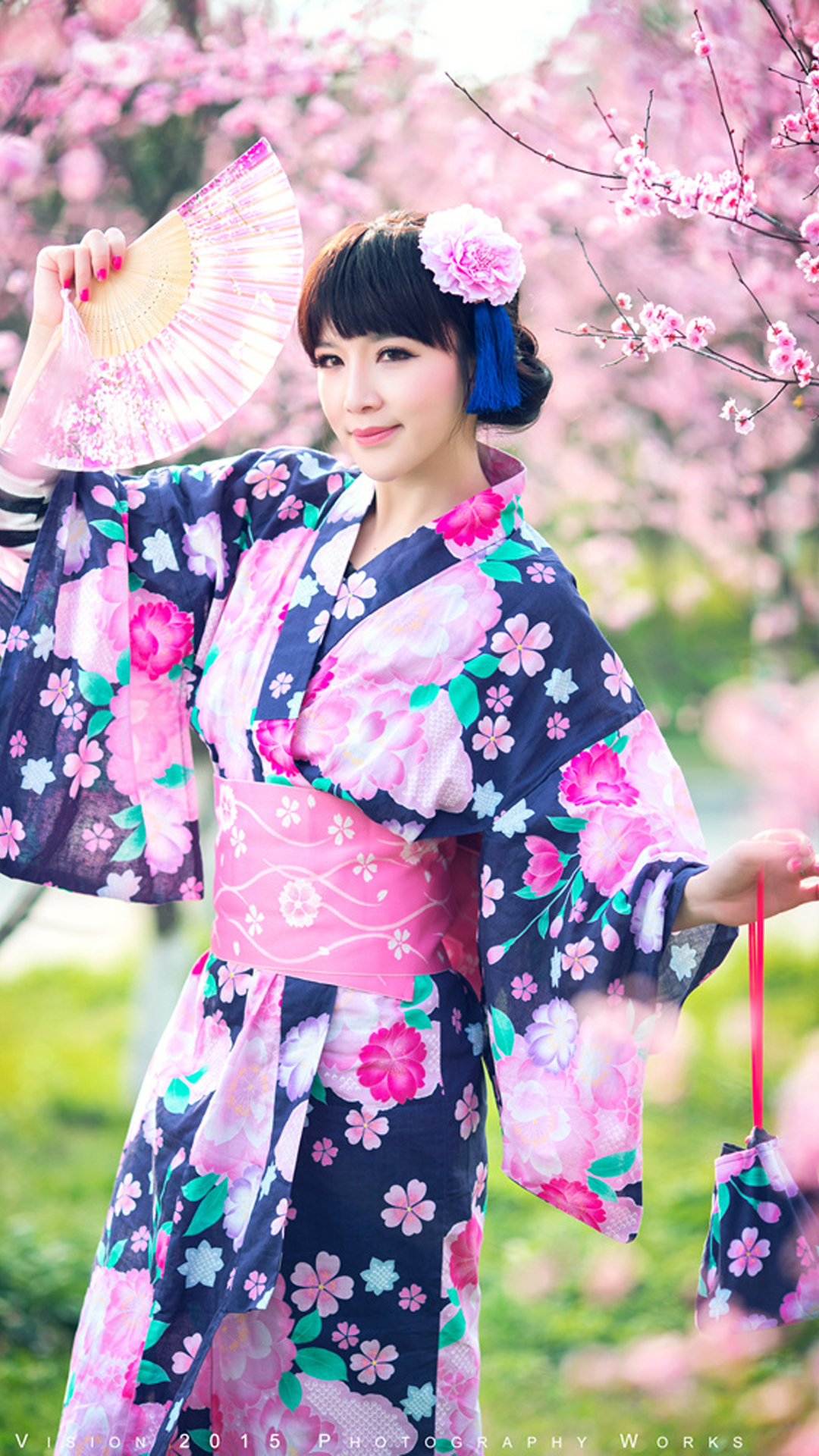 Pretty Girl Wearing A Kimono Android Wallpaper Android Hd