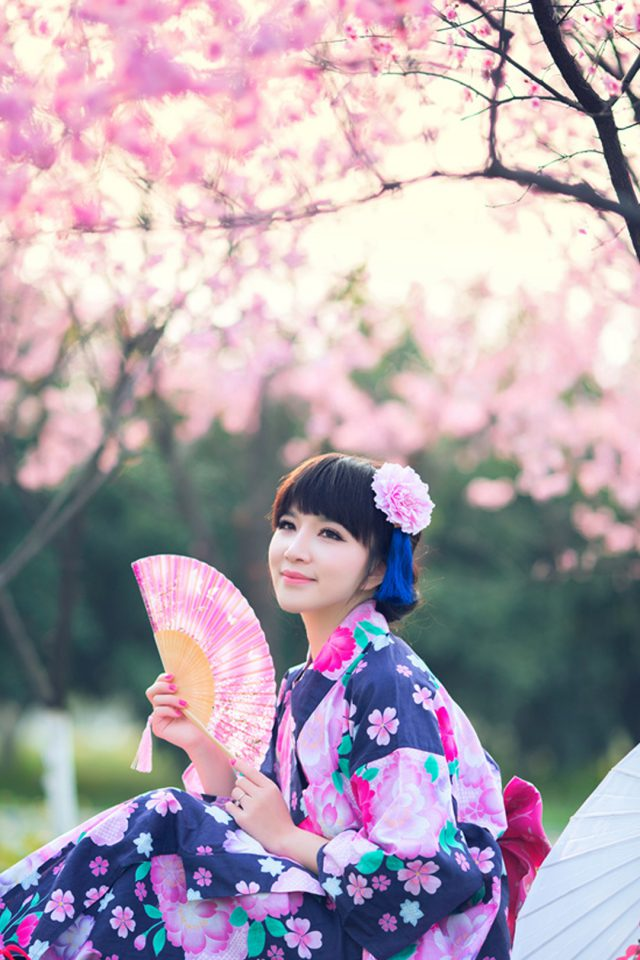 Sakura Season Japanese Girl Japan Android wallpaper