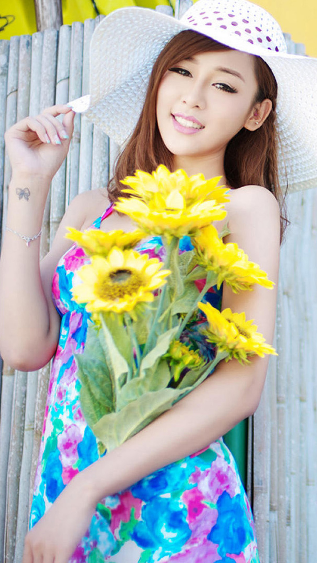 Summer sweet girl Korean Android wallpaper