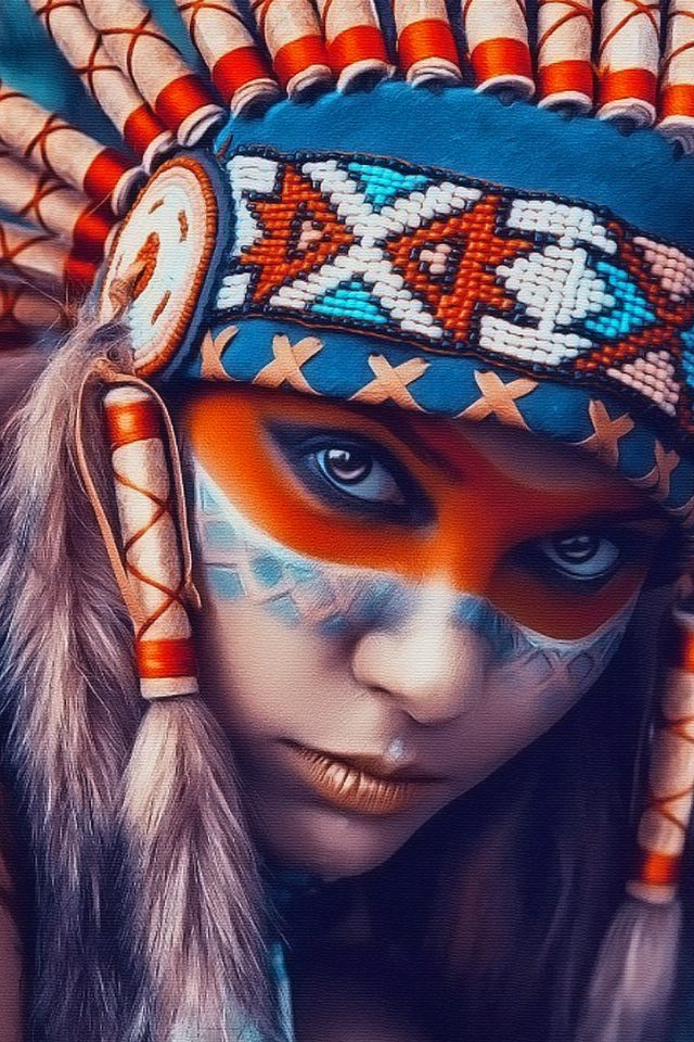 Tribal art beauty   Android wallpaper