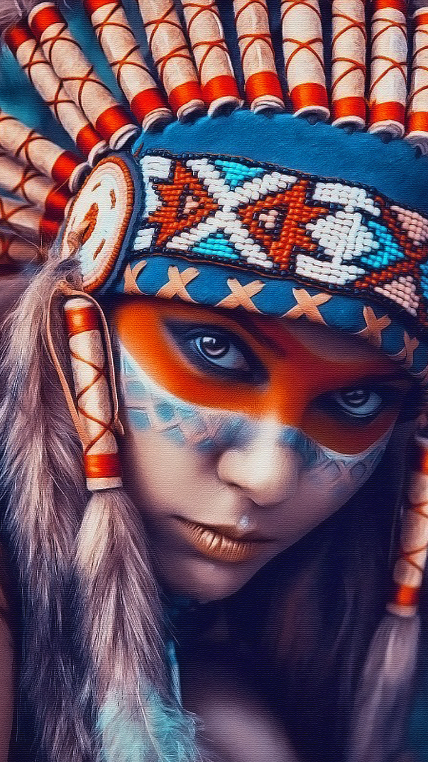 Tribal art beauty Android wallpaper , Android HD wallpapers