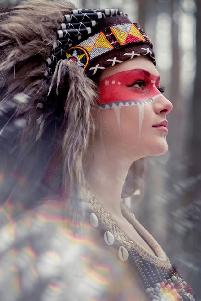 Tribal beauty photography   Android wallpaper