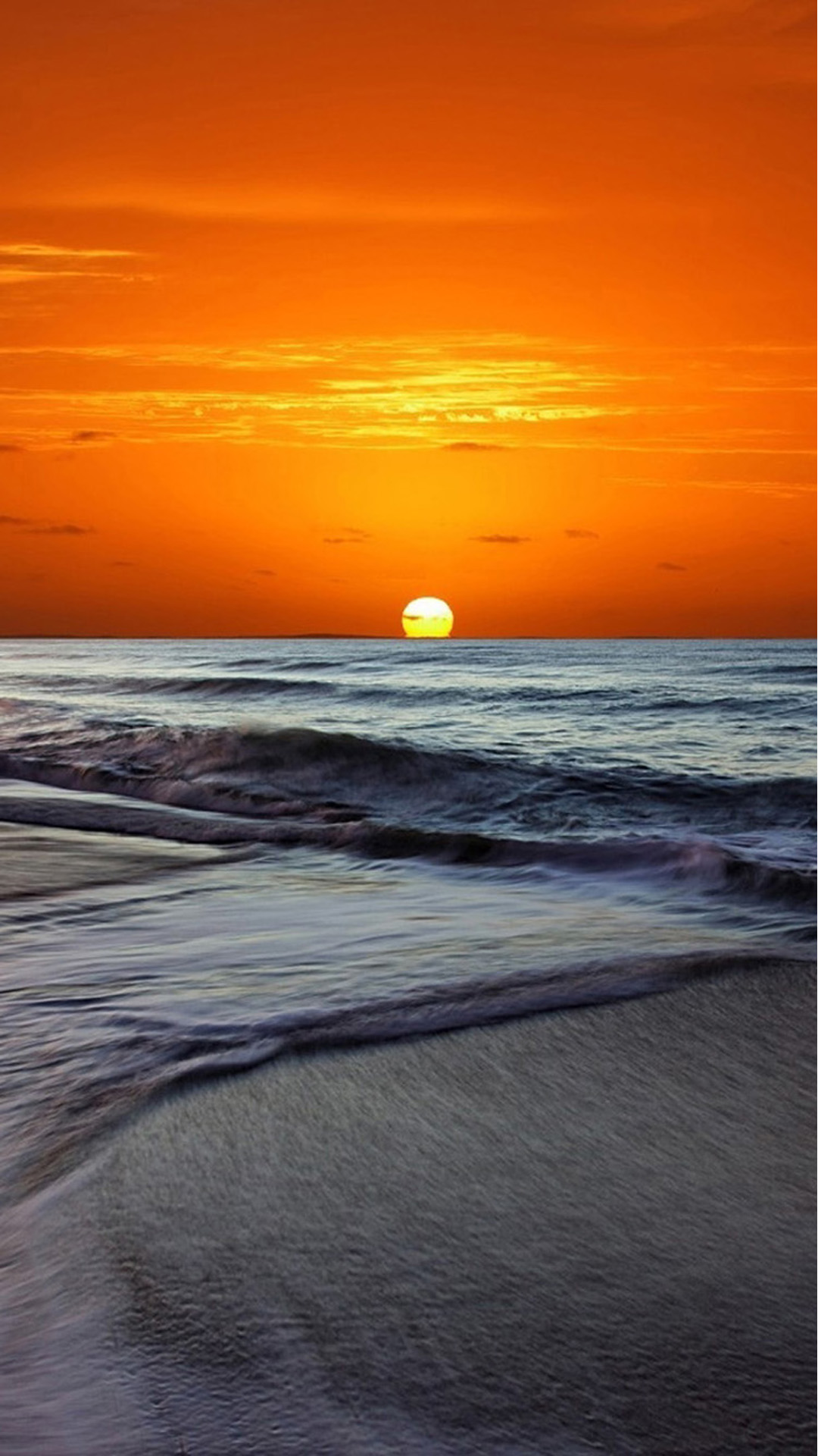 Sunset Beach Android wallpaper