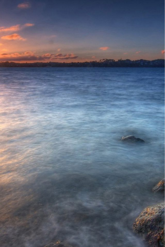 Blue Sea And Sunset Android wallpaper