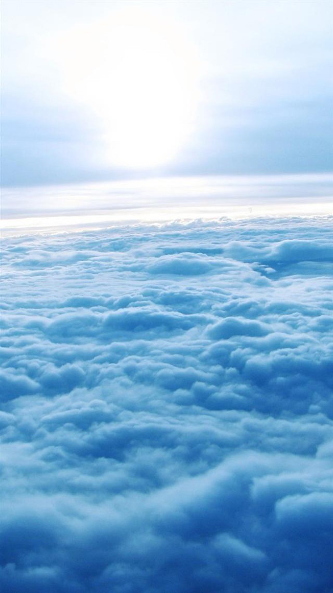 Above the clouds Android wallpaper