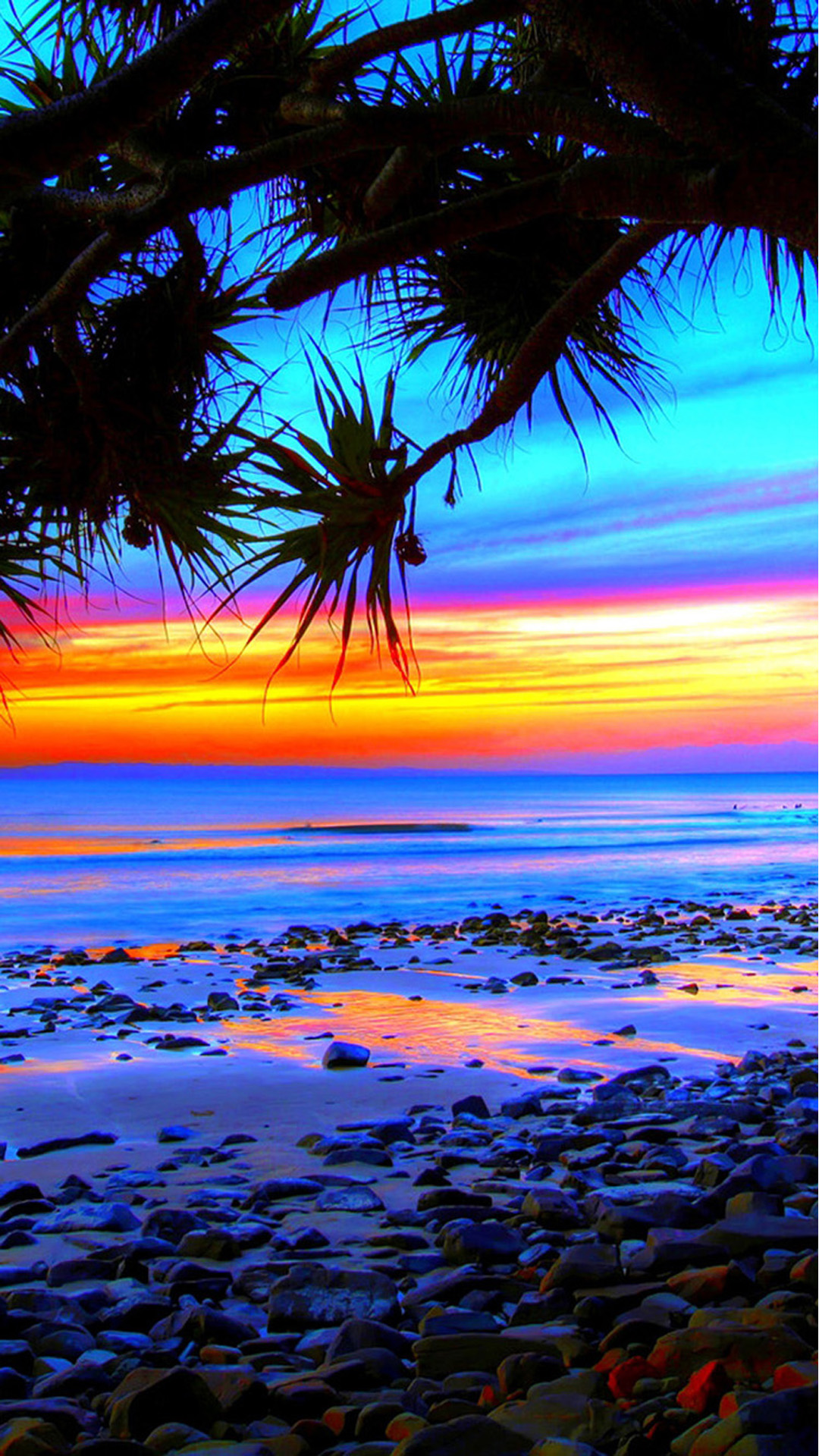 Beach Colorful Android Wallpaper