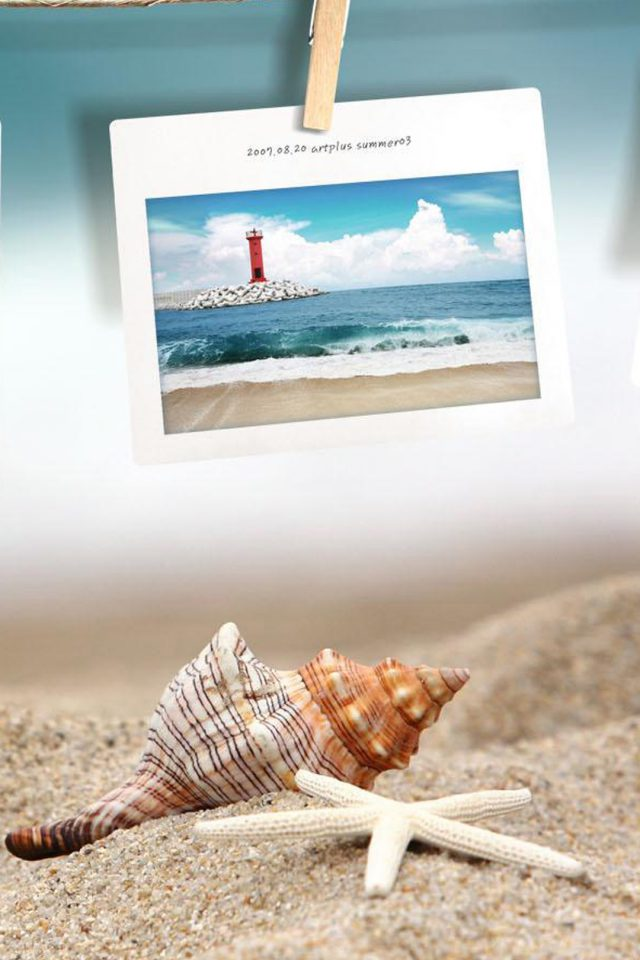 Beach photo memories Android wallpaper