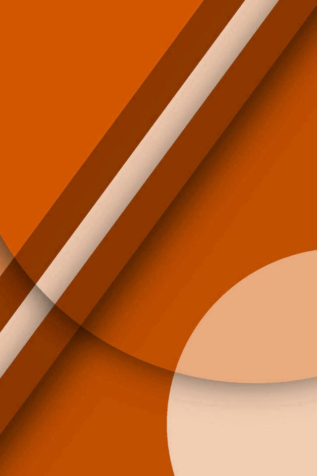Beautiful orange geometric Android wallpaper