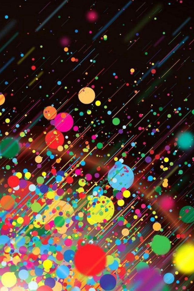 Colorful bokeh Android wallpaper