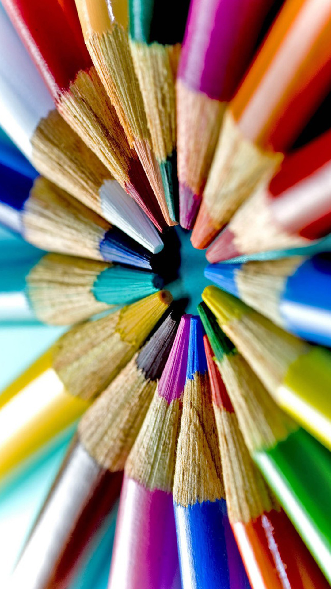 Colorful Pencils Macro Android Wallpaper Android HD Wallpapers