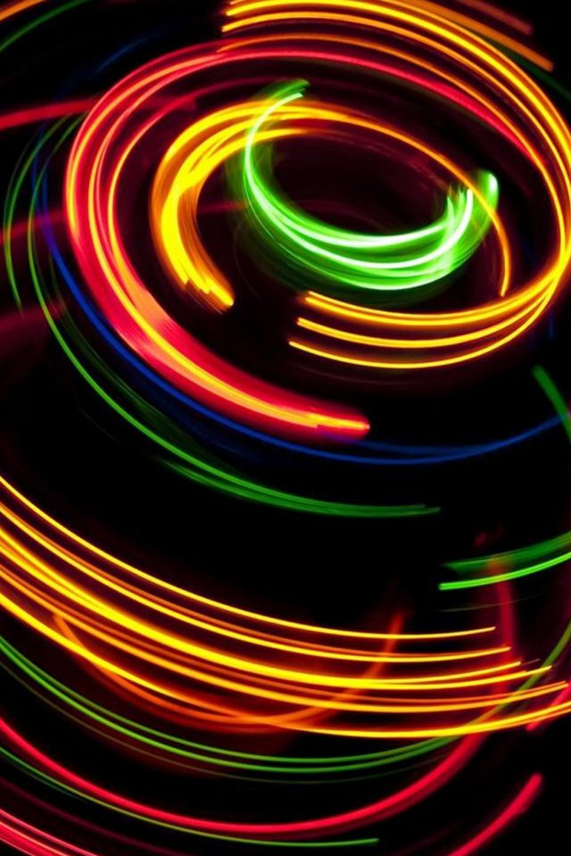 Colorful spinning Android wallpaper