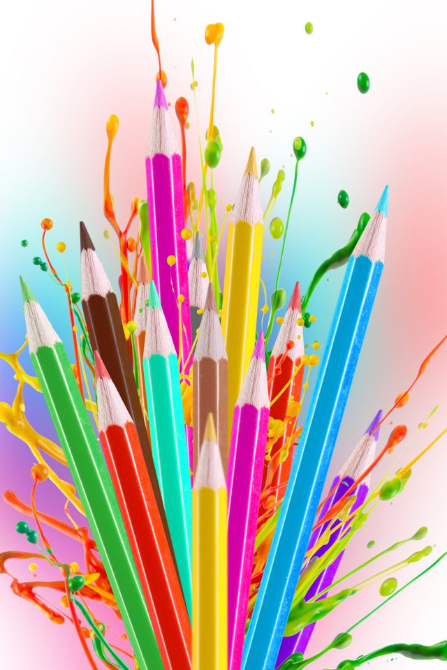Colorful Pencils Android wallpaper