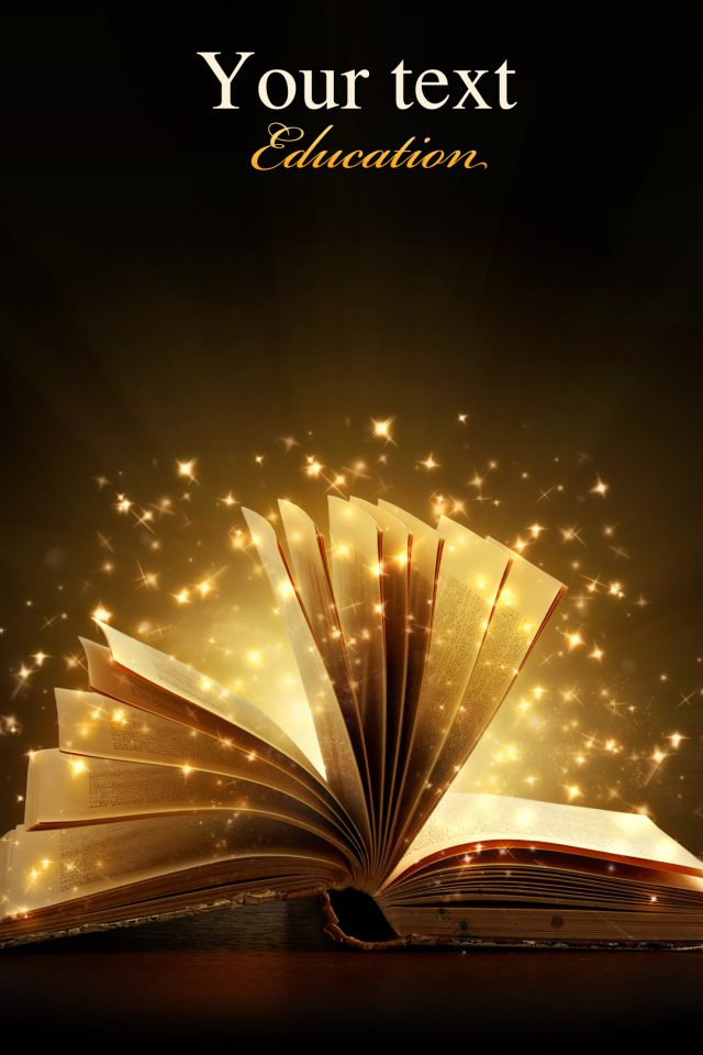 Creative magic books Android wallpaper