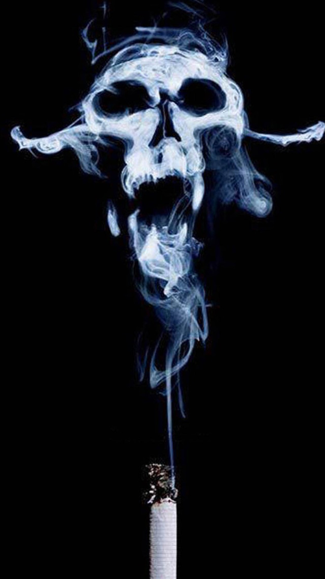 smoke skull android wallpaper - android hd wallpapers