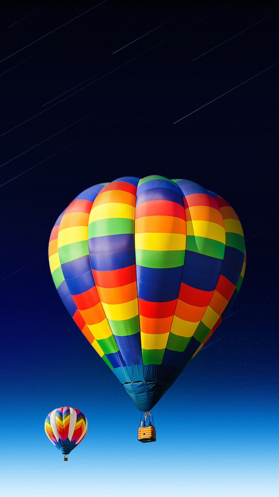 nice-colored-hot-air-balloon Android wallpaper