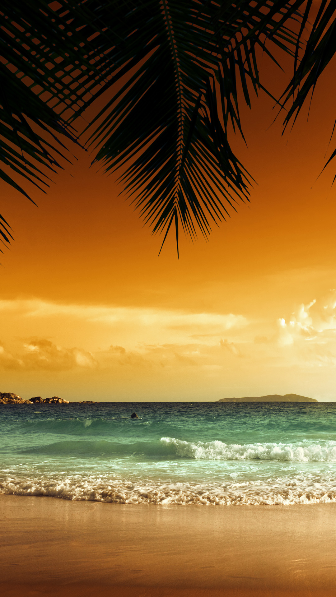 sunset beach iphone 6 plus wallpaper