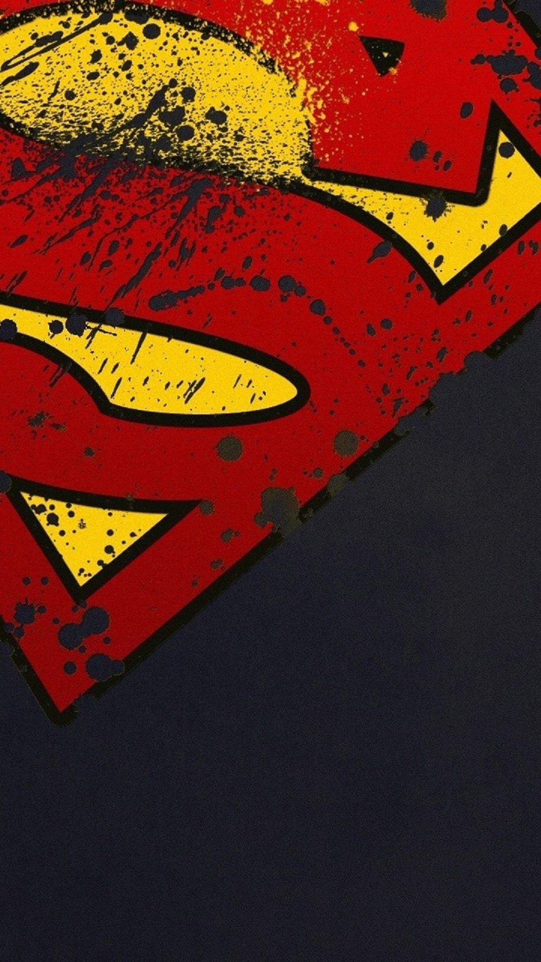 superman logo hd android wallpaper - android hd wallpapers