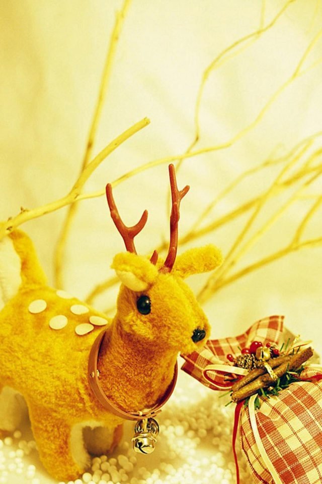 Christmas Deer Android wallpaper