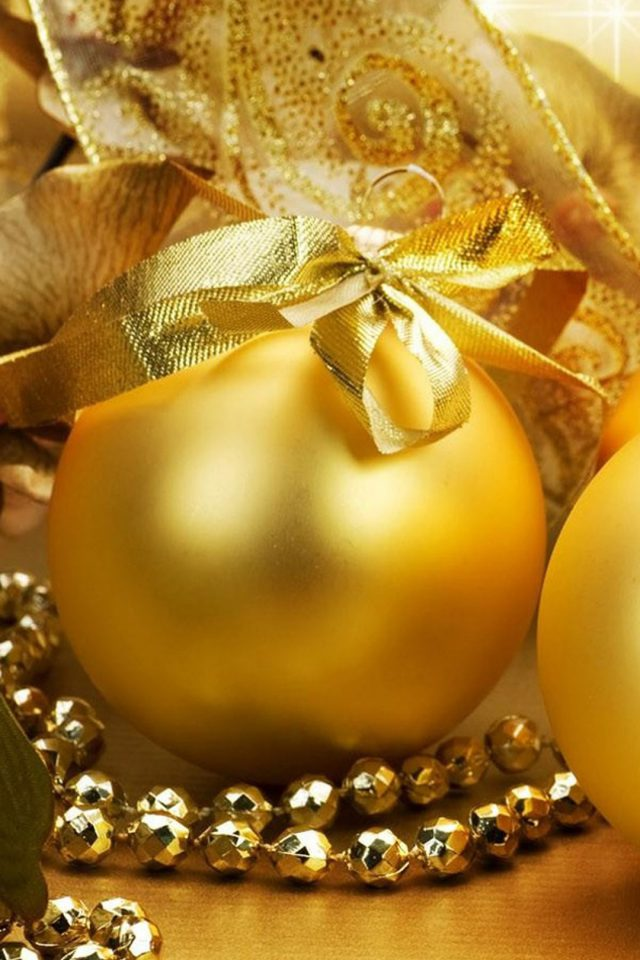 Christmas Golden Eggs Android wallpaper