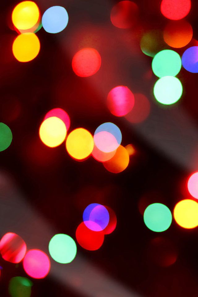 Christmas Lights Bokeh Android wallpaper