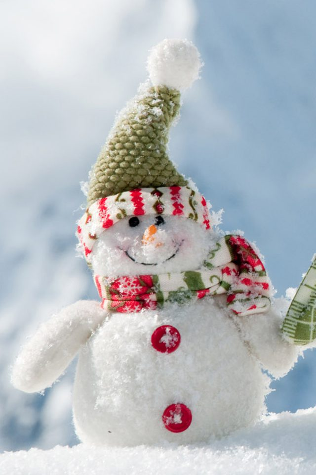 Christmas Snowman Android wallpaper