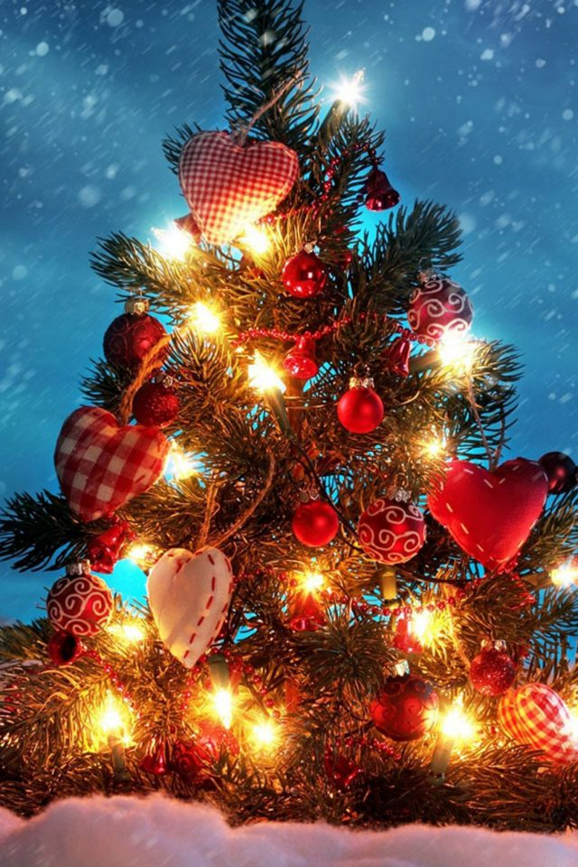 Christmas Tree Lights Android wallpaper