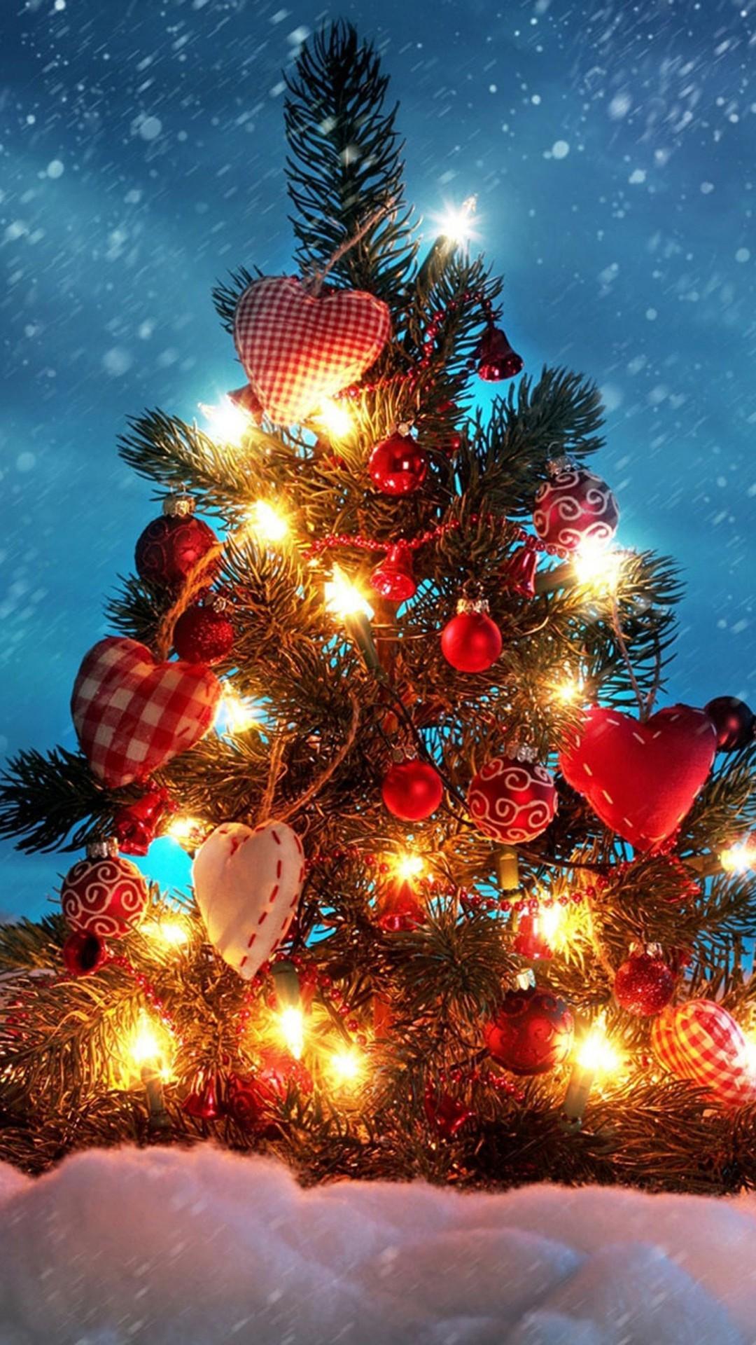 christmas tree lights android wallpaper android hd wallpapers - Christmas Wallpaper For Android