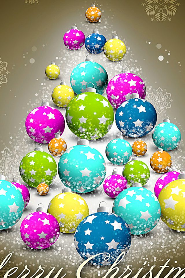 Colorful Merry Christmas Android wallpaper