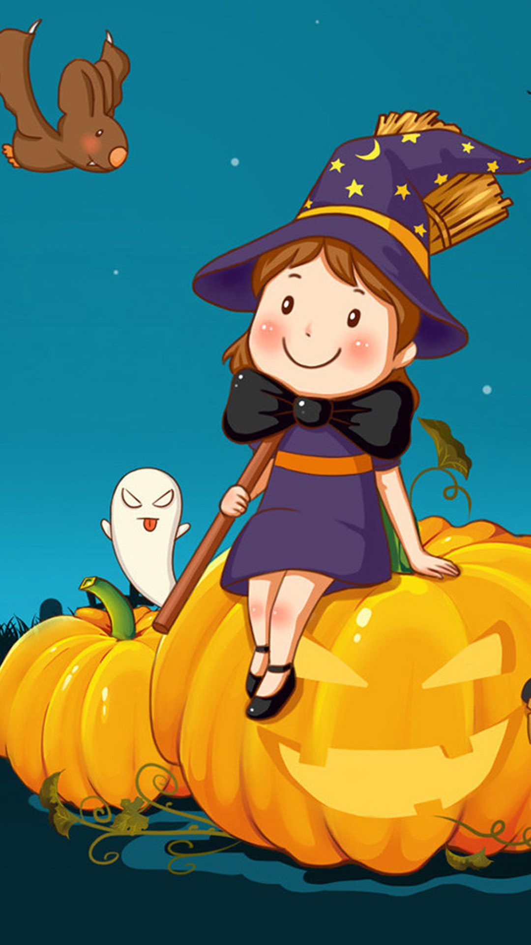 Cute Halloween Android Wallpaper
