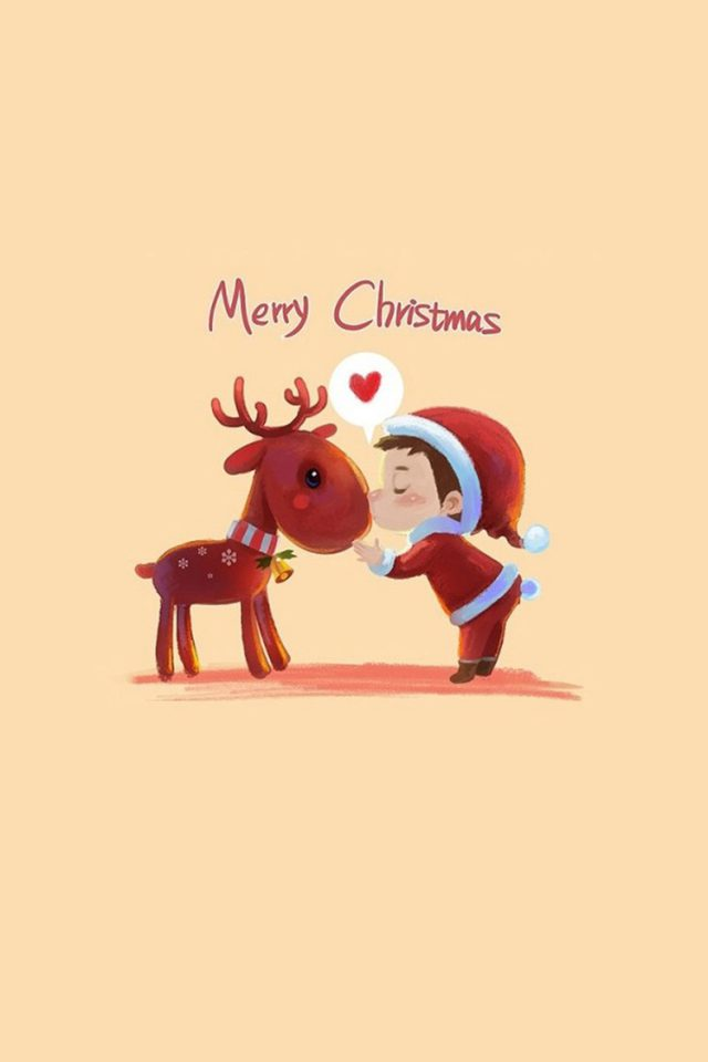 Cute Merry Christmas Android wallpaper