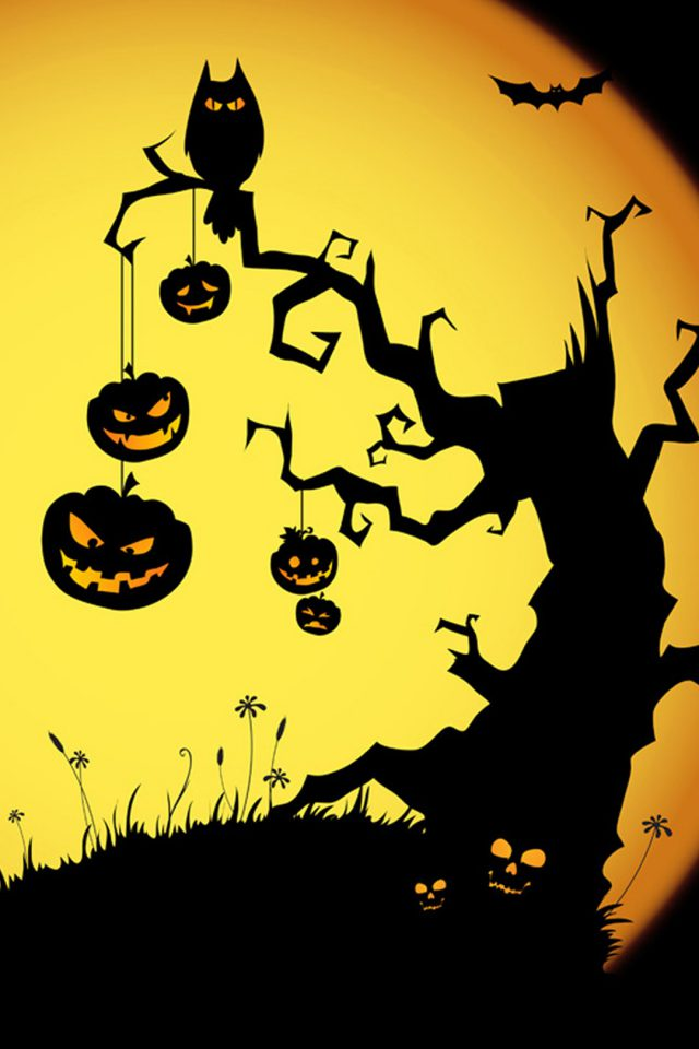 Halloween Scene Android wallpaper