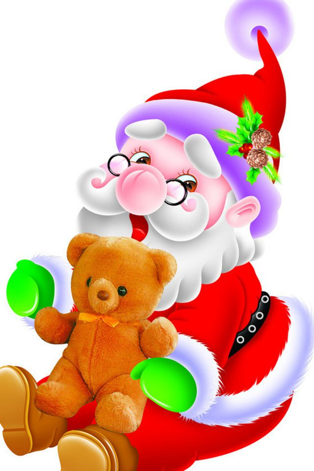 Happy Santa Claus Android wallpaper