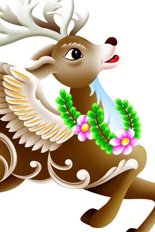 Lovely Christmas Deer Android wallpaper