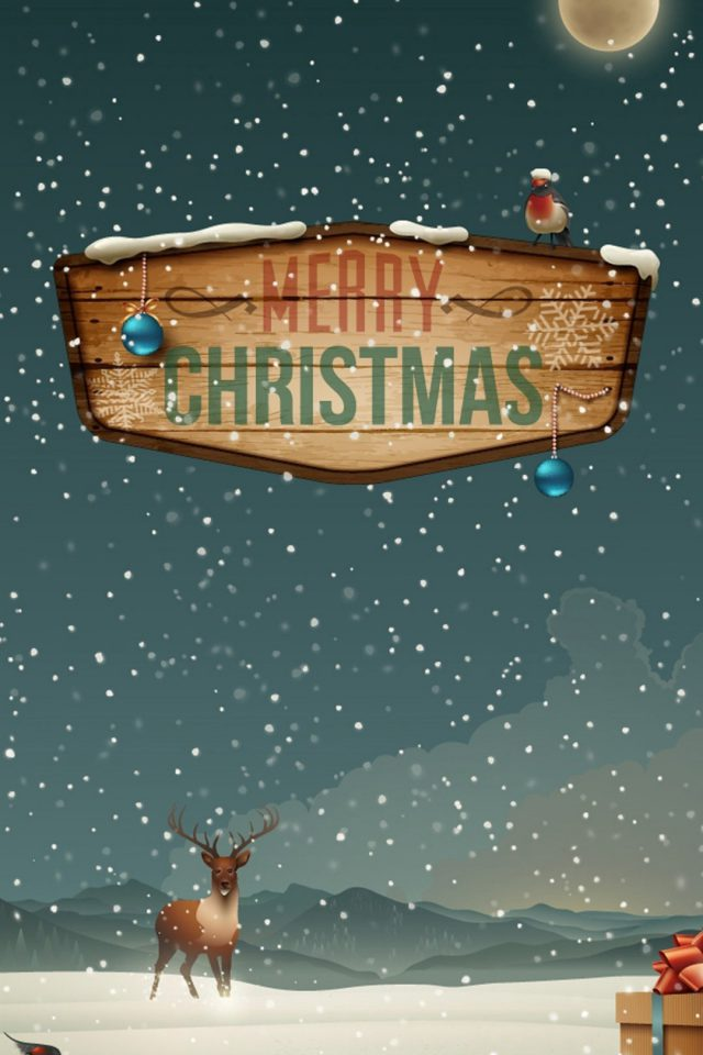 Merry Christmas Snow Android wallpaper