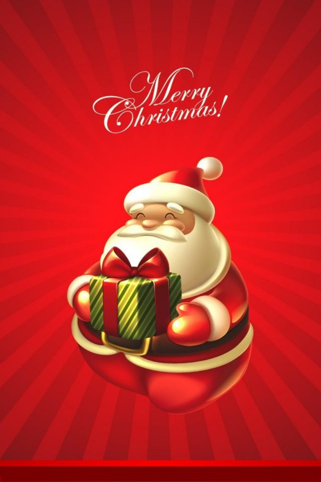 Santa Merry Christmas Android wallpaper