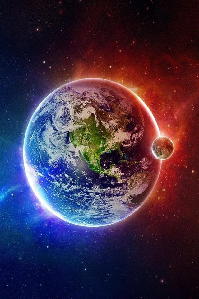 Beautiful Earth Space Android wallpaper