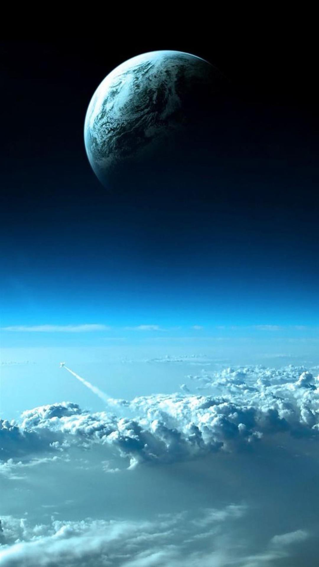 Beautiful Blue Space Android wallpaper