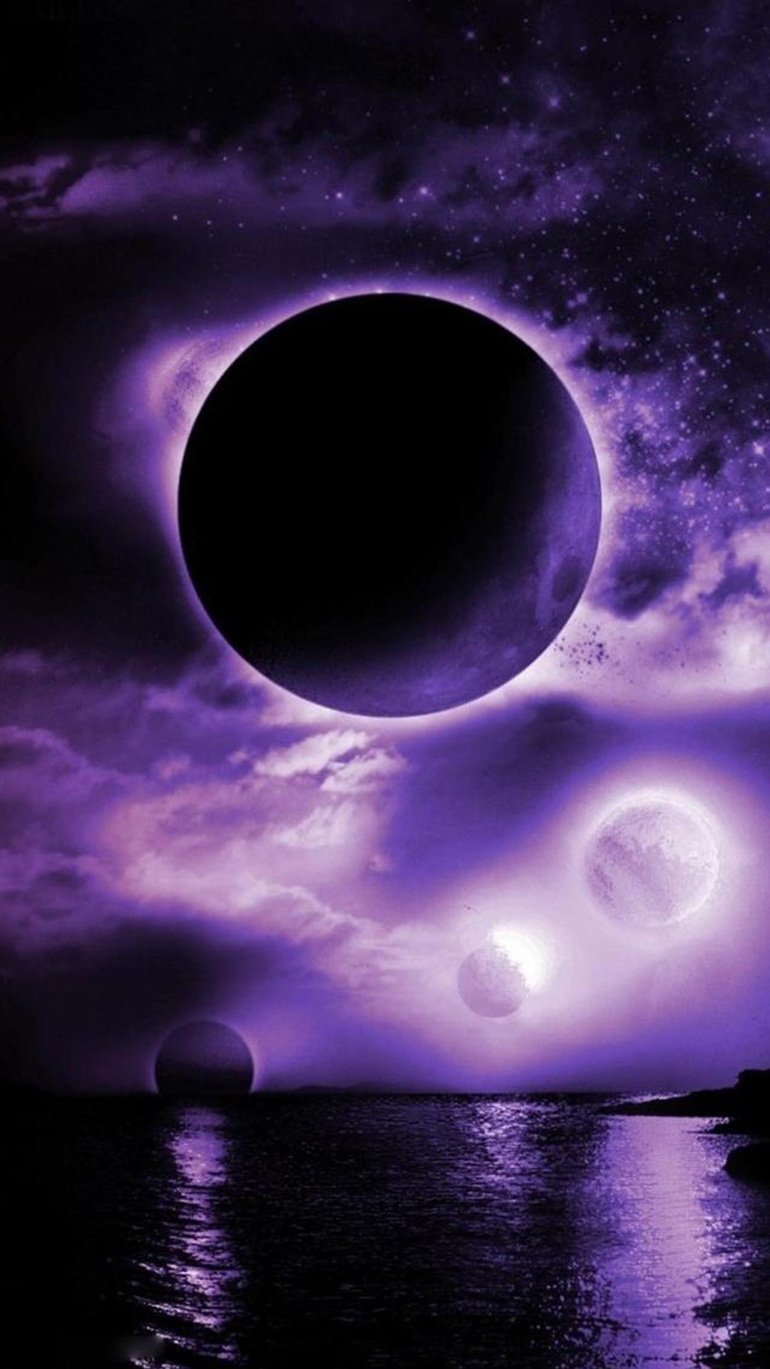 beautiful purple space
