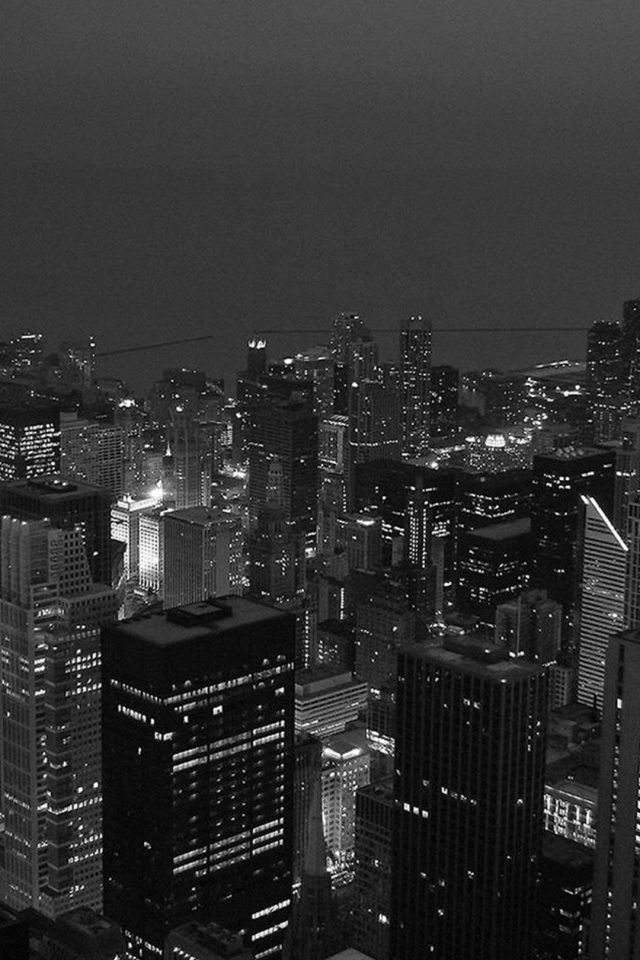 Black White City Android wallpaper
