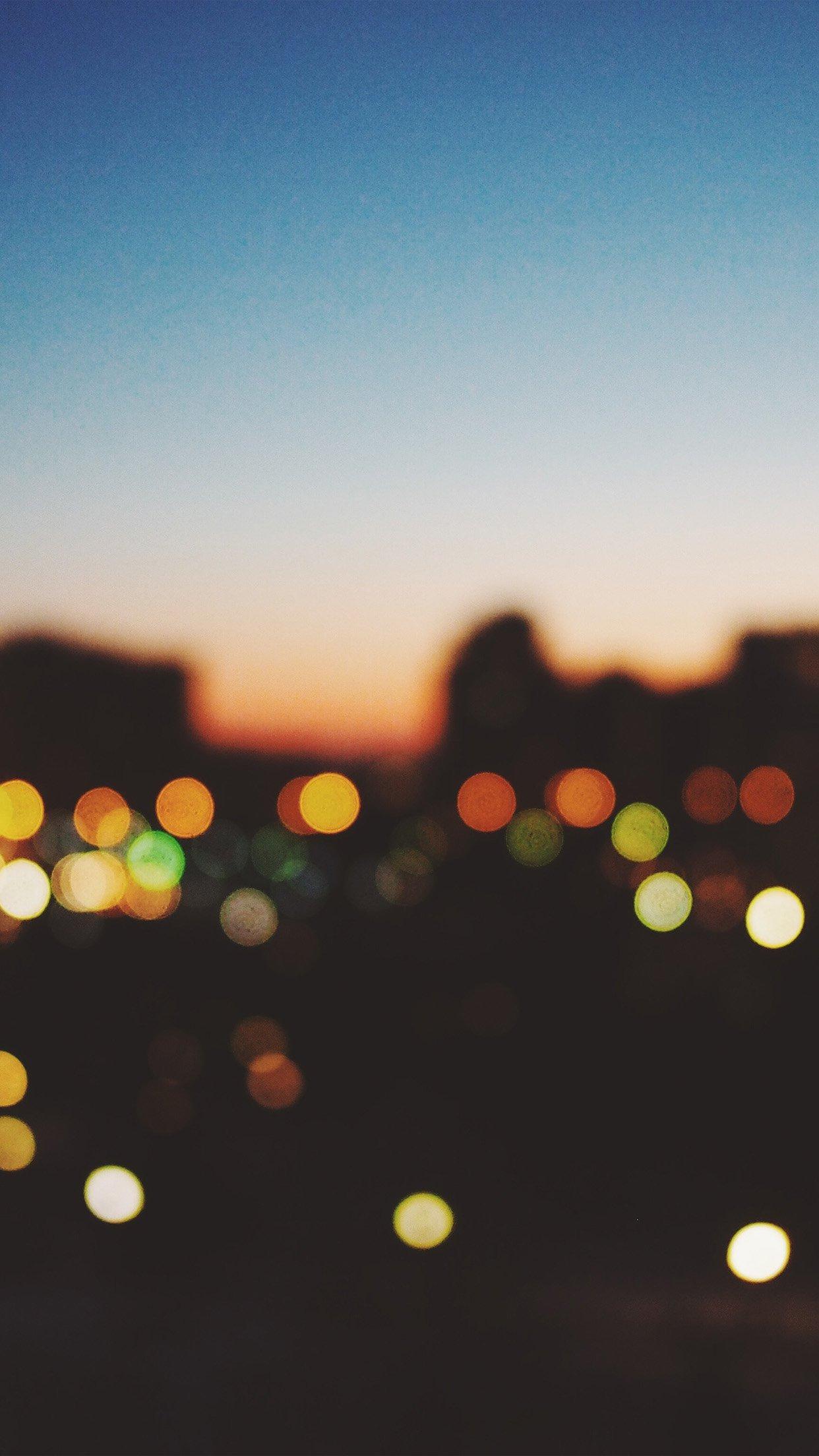 Bokeh Light Sunset Android Wallpaper