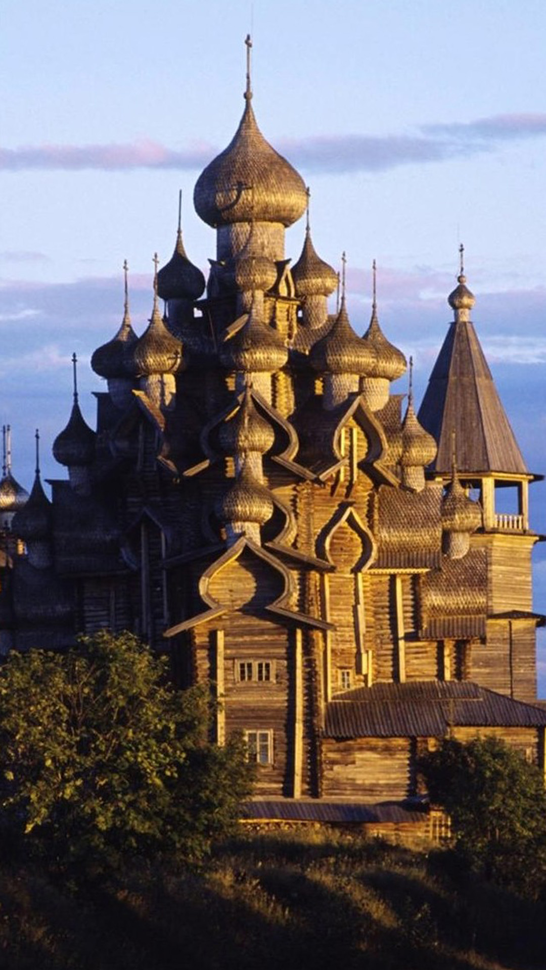 Church Of The Transfiguration Russia Android wallpaper
