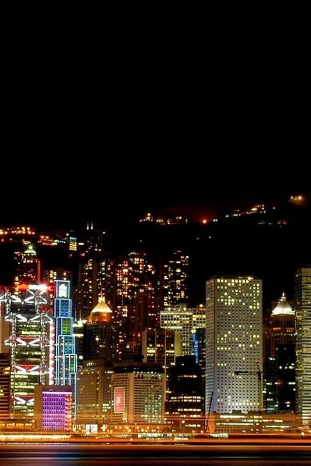 Hong Kong At Night Android wallpaper
