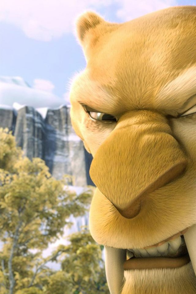 Ice Age Tiger Android wallpaper