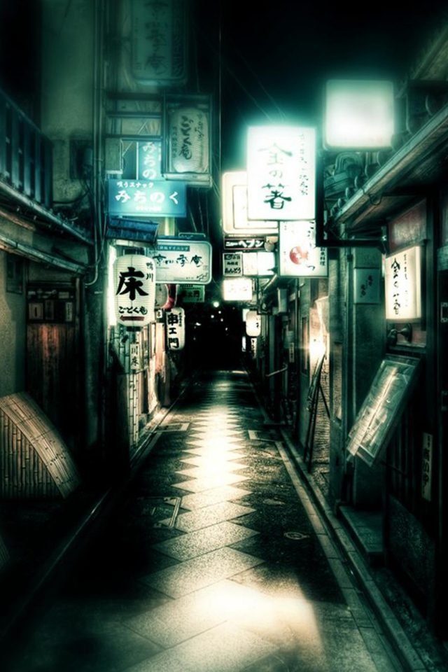 Japan Osaka Streets Android wallpaper