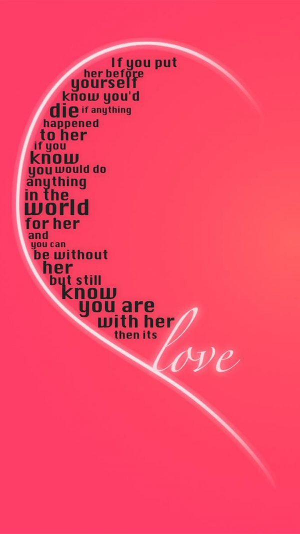 Love Quote Android Wallpaper