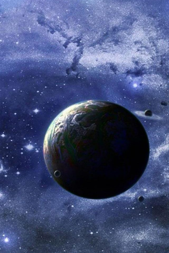 Magical Space Planet Android wallpaper