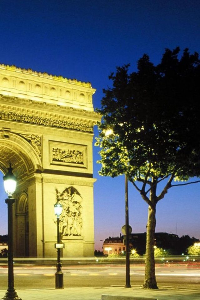 Paris Arc De Triomphe Android wallpaper