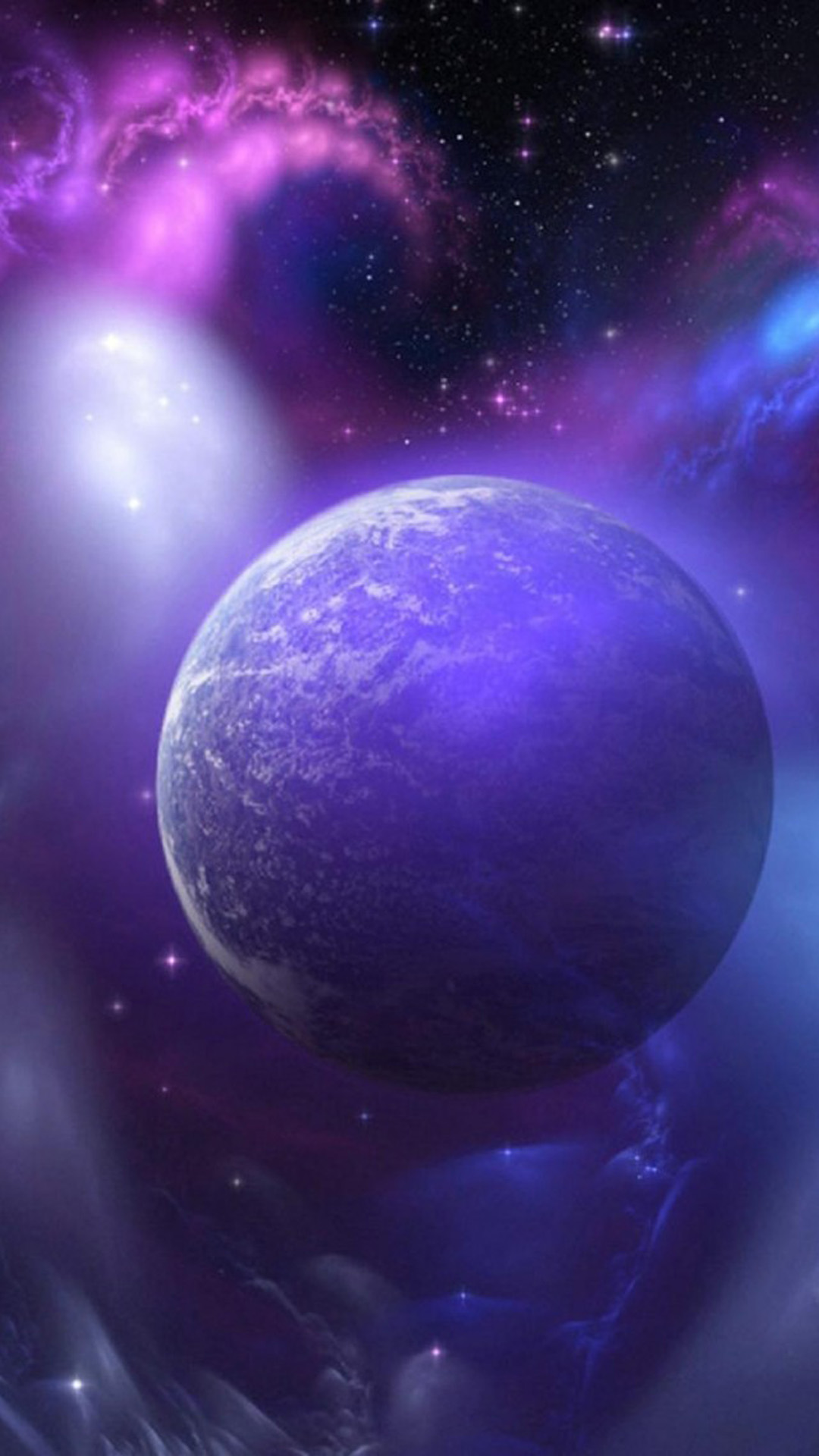 purple space planet android wallpaper android hd wallpapers