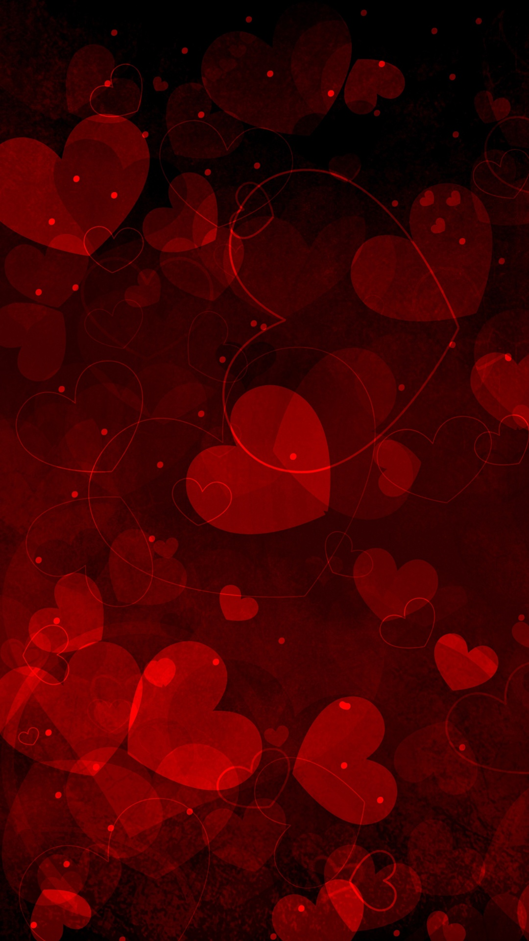 Red hearts art valentine android wallpaper android hd wallpapers voltagebd Images